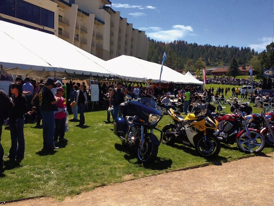 The ApsenCash motorcycle rally, based at the Inn of the Mountain Gods, is a big draw to bikers who love the mix of cool weather, winding mountain roads and scenic beauty.