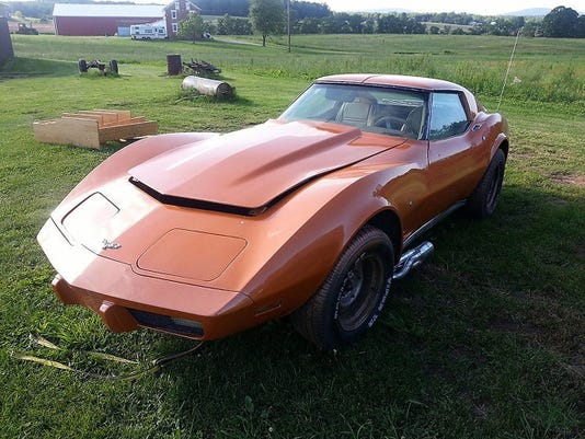 Charles Estelle's prized 1977 Corvette was stolen from a private garage in Paradise Township nearly two weeks ago. The Maryland man is asking local residents to keep watch for the bright-orange classic car. (Submitted)