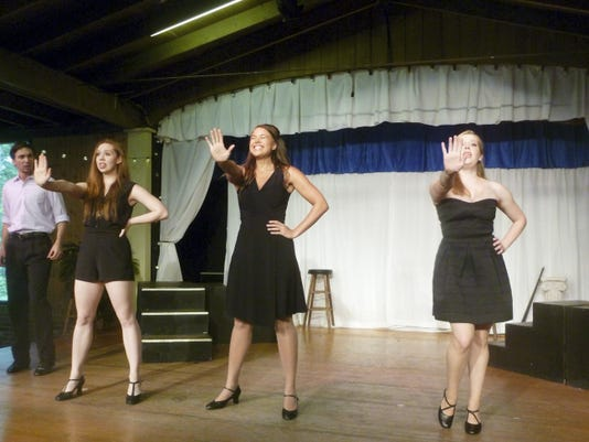 Performing The Supremes' hit 'Stop in the Name of Love' are, from left, Madison Tinder, Lindsey Grimble and Eileen Cannon.