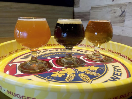 Tröegs Brewery's Hop Knife Harvest Ale, JavaHead Stout and Grapefruit IPA are great brews for fall.