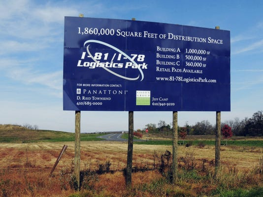 The former I-81/I-78 Logistics Park in Union Township has been sold and renamed Gateway Logistics Park. Brad Rhen -- Lebanon Daily News