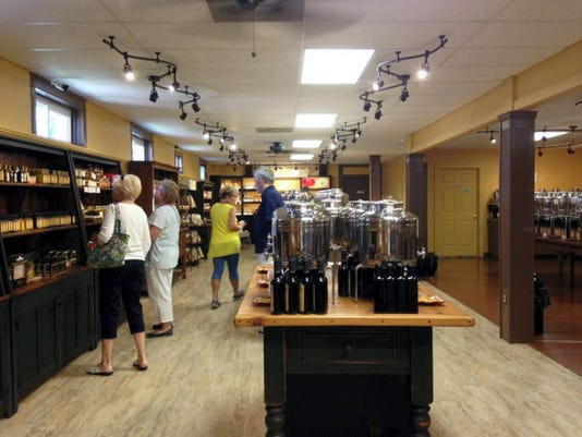 Olio Olive Oils and Balsamics in Lititz sells 87 different flavors and varieties of balsamic vinegar and olive oils.