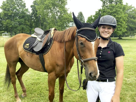Sidney Wike, 14, has been riding for seven years.