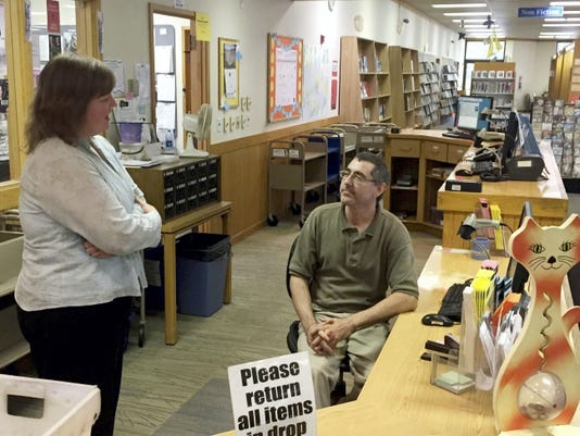 Lebanon County Library District Director Michelle Hawk, who also is director of the Lebanon Community Library, talks about the challenges of providing services without a state budget with librarian Doug Lotz.  John Latimer -- Lebanon Daily News