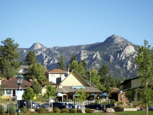 The village of Estes Park is nestled in the mountains of Colorado.