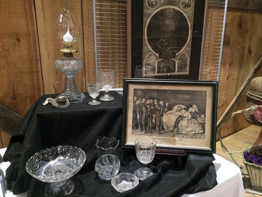 The April exhibit at Allison-Antrim Museum, Greencastle, is a colletion of mourning memorabilia by Hagerstown undertaker, Ryan Berger. Photo courtesy Allison-Antrim Museum