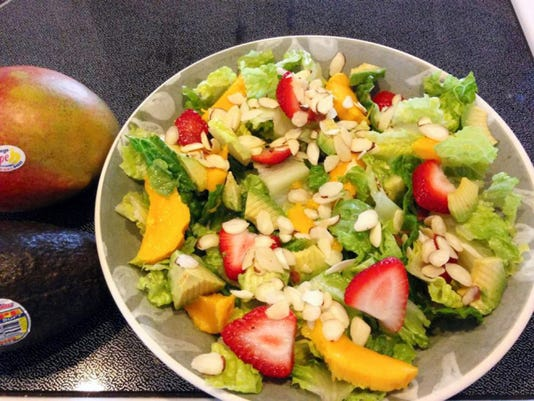 Treat yourself to a nice mango salad this spring.