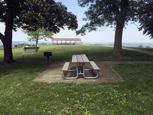 KIM STRONG / FLIPSIDEPA The pavilion at the peak of Mt. Pisgah has a spectacular view and can be rented for a nominal fee from the parks.