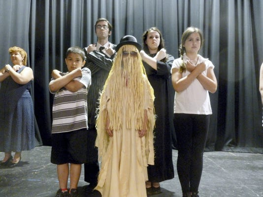 Members of the children's cast at Lebanon Community Theatre portray characters from the hit '60s show 'The Addams Family' during 'Broadway at the Barn.' Bill Warner - Lebanon Daily News