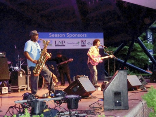 Blues artists Selwyn Birchwood performs with his band at this Long Park's first concert of the season on June 7.  Paige Gross -- For FlipSide