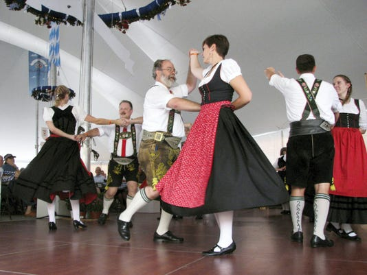 Schuhplattler dancers will perform Aug. 22 and 23, 2015, at the Augustoberfest in Hagerstown, Md.