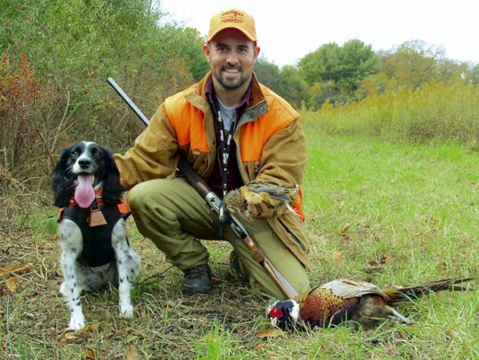 The author has enjoyed a change of pace pursuing winged game this season, such as this pheasant and woodcock flushed by his bird dog Cali.