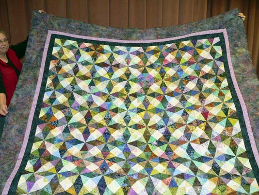 This quit will be raffled at the Lebanon Quilters Guild's Ninth Annual Exhibition of Quilts at the Lebanon Valley Expo Center. The exhibition will run from Nov. 13-15. The drawing for the quilt will be 4:30 p.m. Nov. 13.