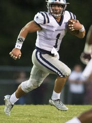 Farragut's Cooper Hardin (1) runs with the ball during