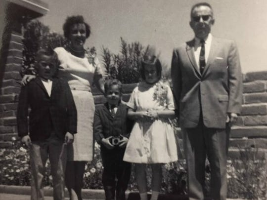 Bob McElroy with his family on Easter Day, 1965. Photo