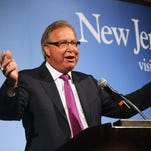 File: Former Eagle Ron Jaworski speaks Thursday at the New Jersey Conference on Tourism at the Golden Nugget in Atlantic City.