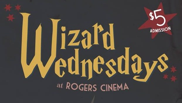 Rogers Cinema will host Wizard Wednesdays in honor of the 20th anniversary of the Harry Potter series.