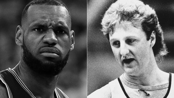 LeBron James (left) and Larry Bird: Which player do you prefer at age 30?