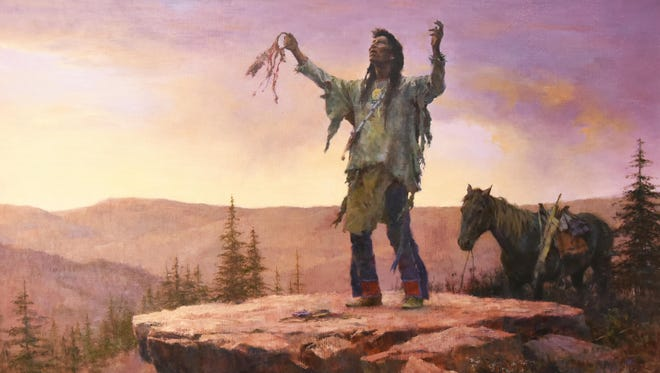 """""""My Medicine Is Strong"""" will be among the Howard Terpning paintings on display at the Rockwell Museum."""