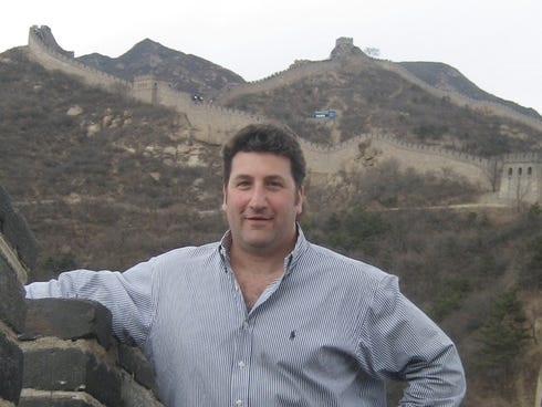 Frequent business traveler Scott Margolis visited China's?s Great Wall during a business trip in 2007.