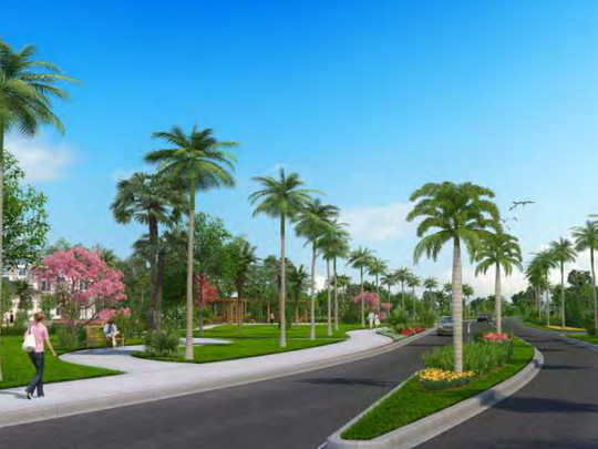 Stock Development has proposed a pocket park for Estero Crossing, according to renderings it shared before the Estero Village Council on Wednesday, May 24.