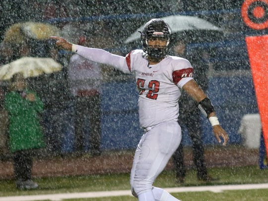 Indian Hill's Jalen Thornton reacts     during the