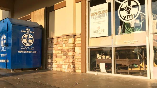 Visalia police said a woman broke into Visalia's Rescued Treasures early Sunday morning.