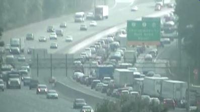 DelDOT traffic cameras show northbound I-95 is jammed from Del. 273 past Del. 7 at Churchmans Marsh.