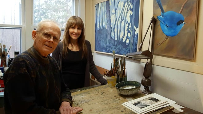 Dad Dick with daughter Allison Roberts.