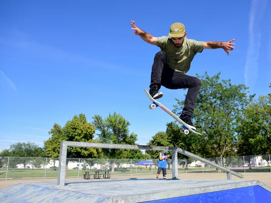 Drake Springs Skate Park, Concrete ramps