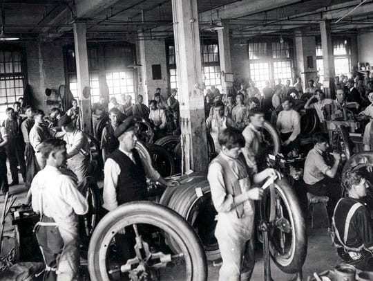 Firestone Tire and Rubber Company  built its first