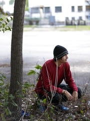 Daniel Pavlich pauses during a recent workout in preparation for the Community First Fox Cities half marathon.