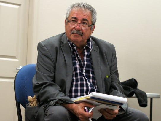 Mayoral candidate Edward Khanbabian at the Feb. 22