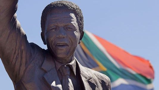 A statue of Nelson Mandela in South Africa.