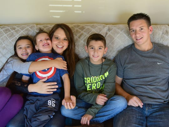 Micah and Michelle Baumbaugh are raising children, Ava, Jameson andChristian, right, in their Chambersburg home. Micah and Michelle have been foster parents for 11 years and recently adopted one of the children.