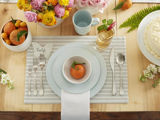 Spring table settings.