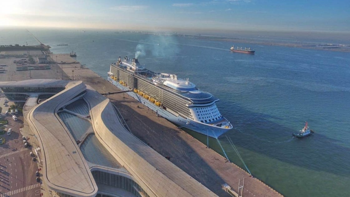 Giant Royal Caribbean ship christened in China