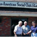 """Manville-Hillsborough Elks Lodge 2119 volunteers and the Lodge's Motorcycle Committee recently presented 10 Friends of Animals Spay/Neuter certificates to the Plainfield Area Humane Society. These certificates will be used by the shelter on animals in need or awaiting adoption. Funds for the certificates were made possible by an Elks National Foundation Grant. From left: Elks volunteers Dave Argen, Scott Mikaelian, Joan Leib, """"Izzy"""" the dog, Ed Leib, Kurt Schreckengost, Scott Shuleski, John Fidler, PAHS Manager Kurt Hemminger, Gregg Robinson, Animal Control Officer Roseanna Schenck, Wayne Booth, Jim Delacruz and Patty Yannotta. The Manville-Hillsborough Elks hosts several events throughout the year to raise funds and awareness for special-needs children, veterans, drug prevention, Army of Hope and also sponsors scholarship funds and various other charities. For more information, contact the lodge at 908-725-1717."""