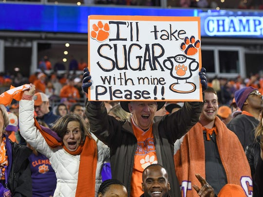 Clemson fans during the 4th quarter of the ACC championship