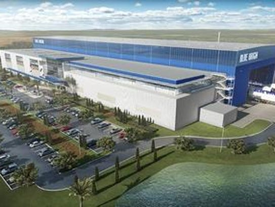 Blue Origin's New Glenn project being built at the