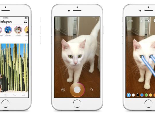 Screenshots of the Instagram app.