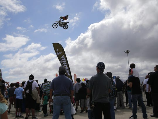 Another Metal Mulisha team member vaults across the sky at last year's Salinas Airshow. The famed extreme motocross team is scheduled to appear again at this year's Airshow, Sept. 26-27.