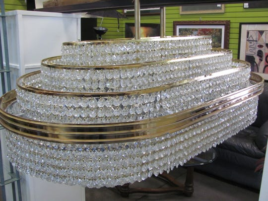 A 350-pound chandelier once owned by Leona Helmsley
