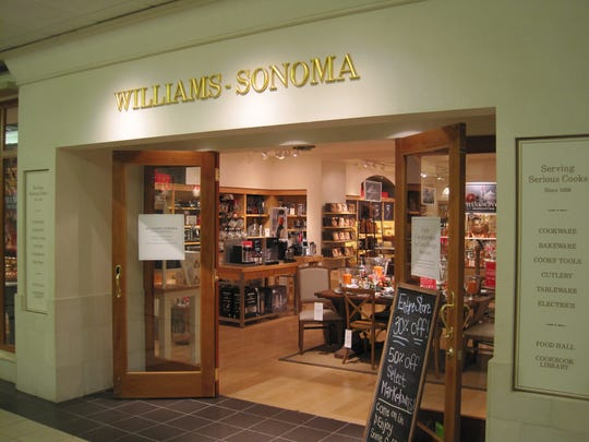 Williams-Sonoma in Burlington Town Center mall is closing