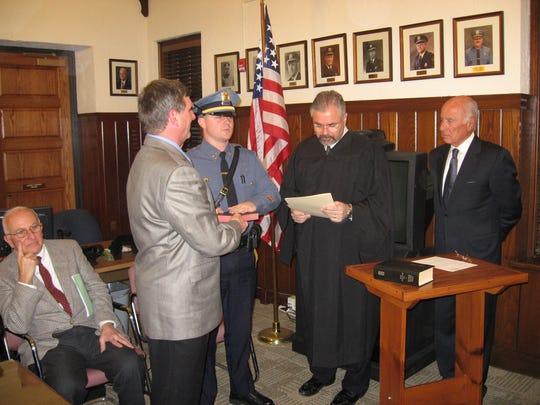 Earl B. Alexander IV, of Ocean Township, being sworn