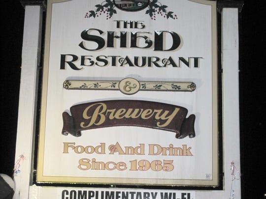 The sign from The Shed Restaurant in Stowe. The Shed