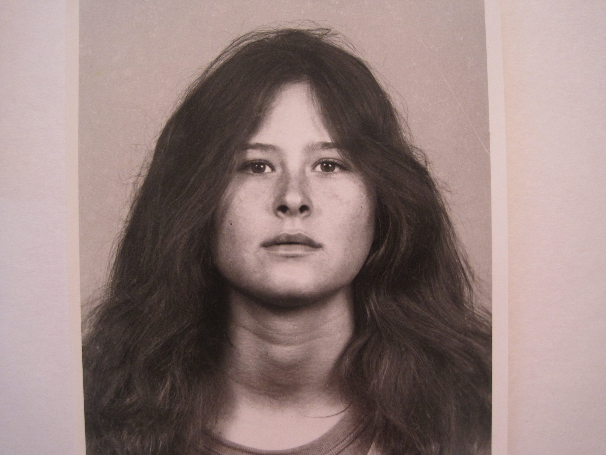 A 1984 photograph of Annette Craver, 18, after she