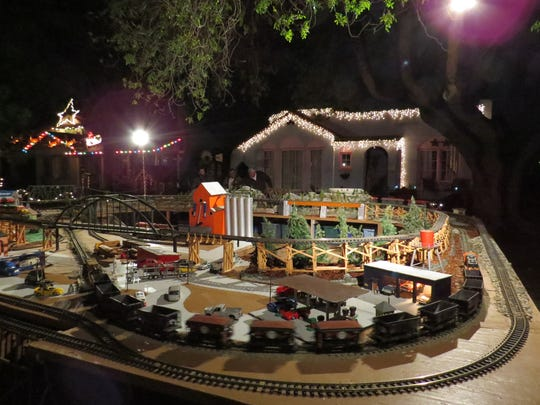 An outdoor railroad display was among the Oxnard Christmas Tree Lane decorations seen in 2015.