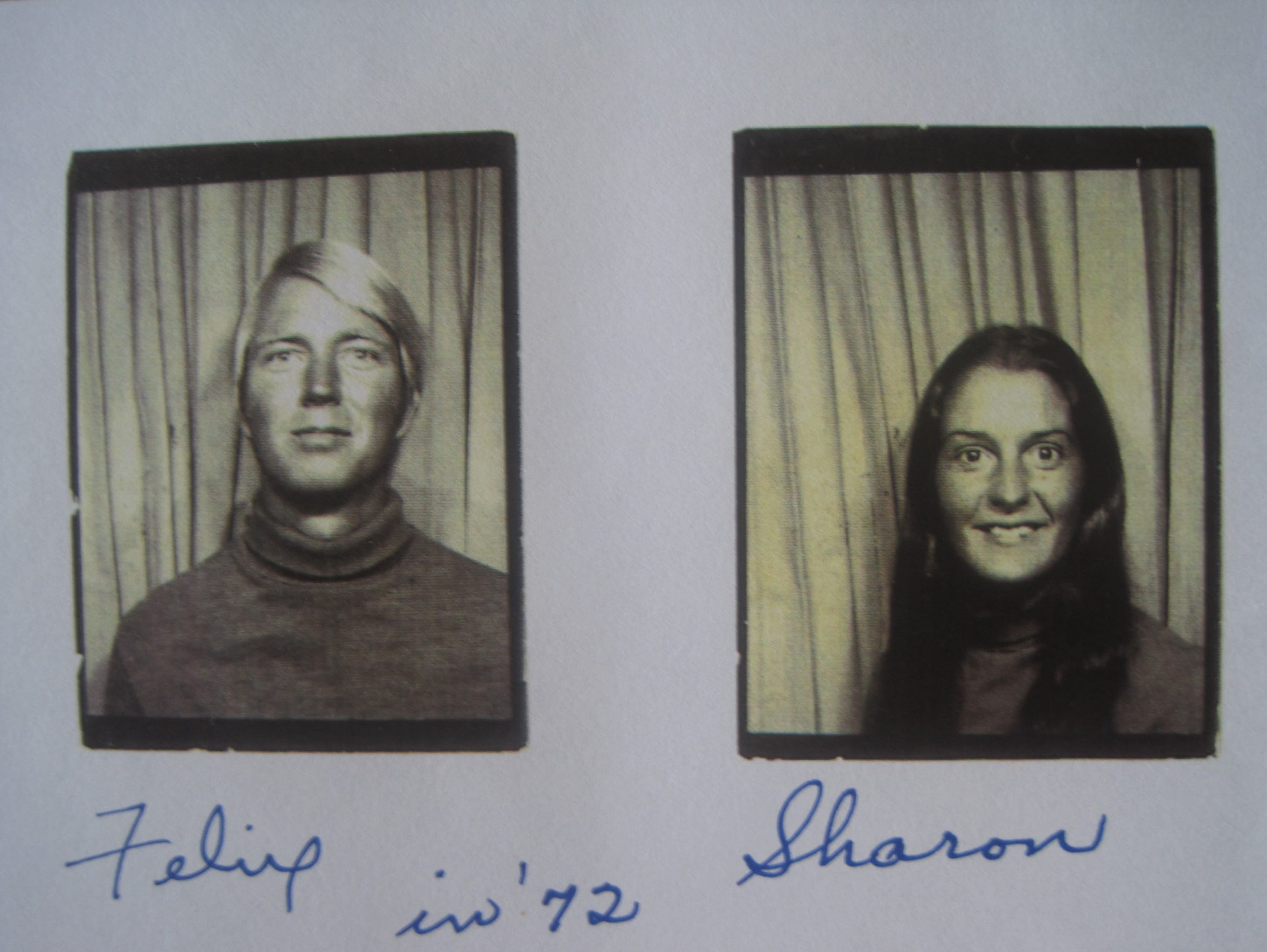 Photographs of Felix Vail and Sharon Hensley in 1972