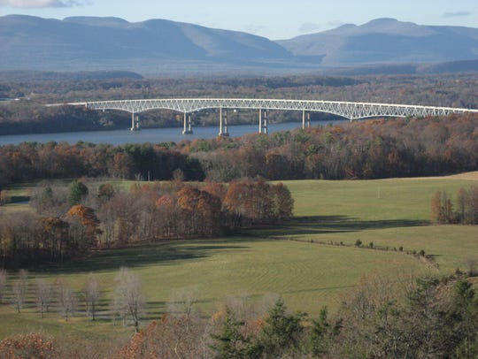 The view from the Ferncliff Forest fire tower shows